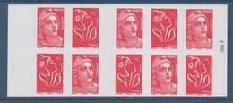 = Carnet Marianne De Lamouche 5 Tvp Lp 3744b Et De Gandon 5x 0.54€ 3977 Carnet N°1514 Numéroté 061 à Droite - Carnets