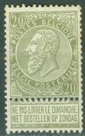 Belgique   59  ( * ) B/TB - 1893-1900 Fine Barbe