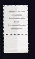 """DDR, Sog. """"Adenauermarke"""" Von 1954  (T 2494) - [6] République Démocratique"""
