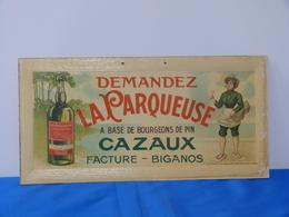 """Publicité  Cartonnée """"LA PARQUEUSE"""". - Paperboard Signs"""