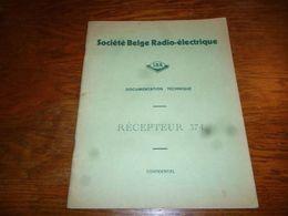 CB5 Doc Technique Bilingue  Français Néerlandais SBR Société Belge Radioélectrique Récepteur 374 - Livres, BD, Revues
