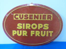 """Publicité  Cartonnée """"CUSENIER"""". - Plaques En Carton"""