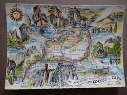48 - CIRCUIT DES GORGES DU TARN - CARTE GEOGRAPHIQUE - R13320 - Landkaarten