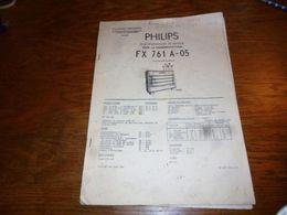 CB5 Doc Technique Bilingue  Français Radio Gramophone Philips FX 761 A-05 16p Avec Plans - Livres, BD, Revues