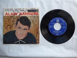 EP 45 T ALAIN BARRIERE LABEL RCA 86.023  LA MARIE JOCONDE  AVEC DEDICACE - Disco & Pop