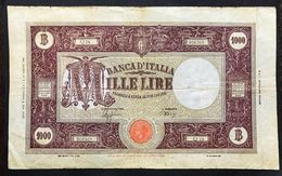 1000 LIRE GRANDE M B.I. R.S.I. 06 03 1944 BIGLIETTO NATURALE N.C. Molto Circolato LOTTO 1566 - [ 1] …-1946 : Regno