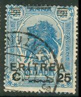 ITALIAN ERITREA 1922 Lion 25C On 2½A Optd, VF Used, MiNr 61, C.v. €7.00 - Eritrea