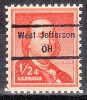 USA Precancel Vorausentwertung Preo, Locals Ohio, West Jefferson 848 - Vereinigte Staaten