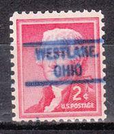 USA Precancel Vorausentwertung Preo, Locals Ohio, Westlake 804 - Vereinigte Staaten