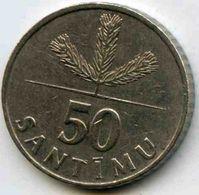 Lettonie Latvia 50 Santimu 1992 KM 13 - Lettonie