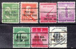 USA Precancel Vorausentwertung Preo, Locals Ohio, West Manchester 705, 7 Diff. - Vereinigte Staaten