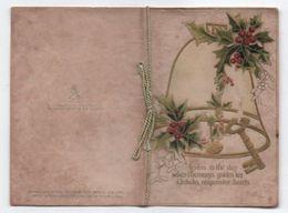 Carte-Livret De Voeux Pour Noël/ Happy Christmas/Cloches + Houx/ Raphaël TUCK/ King & Queen/ LONDON /1909     CVE138 - Other