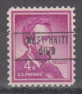 USA Precancel Vorausentwertung Preo, Locals Ohio, West Unity 748 - Vereinigte Staaten