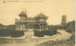 Bruxelles 1918; Pavillon  Chinois Et Tour Japonaise - Voyagé. (Thill - Bruxelles) - Laeken