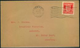 1941, 1 D Arms On Envelope With GUERNSEY Machine Cancellation. - Besetzungen 1938-45