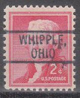 USA Precancel Vorausentwertung Preo, Locals Ohio, Whipple 802 - Vereinigte Staaten