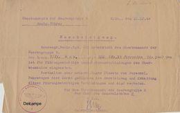 Document Allemand - Autorisation Conduite Kfz 15 Mercedes - Heeresgr Nachr Rgt 605 - 1944 - Documenti