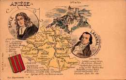 09  - Ariège  - Carte Du Département  - Lakanal Bayle  - R/V  - Bill-845 - R/V - Non Classés