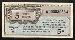 Series 461 5 Cents USA MPC Military Payment Certificate  Bb Lotto 252 - Military Payment Certificates (1946-1973)