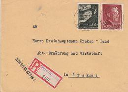 General Gouvernement Lettre Recommandée Wieliczka 1942 - 1939-44: World War Two