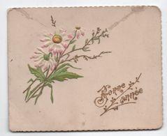 Carte De Voeux / Bonne Année/ Lithographie Gauffrée Et Dorée /Bouquet De Marguerites/Vers 1900    CVE142 - Nouvel An