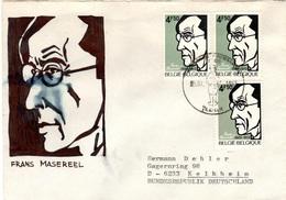 B+ Belgien 1972 Mi 1704 Frans Masereel (UNIKAT) - Belgique