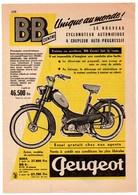 RECORTE DE PRENSA REVISTA O PERIÓDICO PUBLICIDAD MOTO MOTOCICLETA PEUGEOT BB VER  FRANCIA ? FRANCE ? VER FOTO/S Y DESCRI - Publicidad
