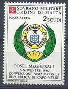 1987 ORDRE MALTE PA 28** Armoirie Cap Vert - Malte (Ordre De)