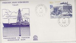 TAAF 1987 Forage Oceanique O.D.R. 1v  FDC (37862) - FDC