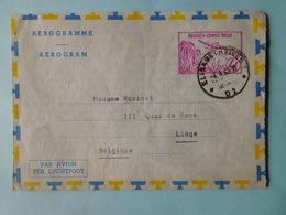 Aerogramme Congo Belge 1963 Document Clinique Reine Elisabeth - Congo Belge