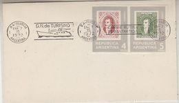 Argentina 1972 D.N. De Turismo/Cambie Rutina Por Antartida Ca 7 Ene 1972 Cover (37863) - Poolshepen & Ijsbrekers