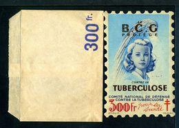 """Tuberculose Antituberculeux - Grand Timbre De 1948  """"300 Fr Pour La Santé"""" - Avec Sa Pochette . - Erinnofilia"""