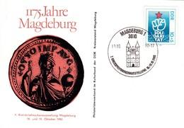 DDR Magdeburg 1175 Jahre. 7 Kreisbriefmarkenausstellung 18.-19.10.1980. Mi:2548 SOLI DARI TAT - Lettres & Documents