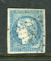 Rare N° 44A Cachet Ancre - Cote 1500 Euros - 1870 Ausgabe Bordeaux