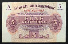Austria 5 SCHILLING 1944 Allied Military P 105 Spl+ Lotto 360 - Austria