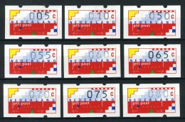 NEDERLAND AU1/9 MNH** 1989-1993 - Automaatstroken - 1980-... (Beatrix)