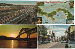 PANAMA - 4 CPA - Avenida Central - The Completed Canal - Thatcher Ferry Bridge - Contour Géographique (103205) - Panama