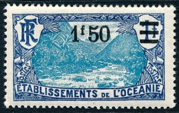 OCEANIE (Ets Fr.) 1927 - Yv. 64 *   Cote= 4,30 EUR - Vallée De Fataoua. Surcharge 1f50  ..Réf.AFA22882 - Ozeanien (1892-1958)