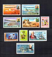 Madagascar  1976 .-  Y&T  Nº  580/583-584-593/594-595/596   (  *  Sin Goma  ) - Madagascar (1960-...)