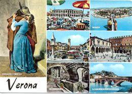 Italie - Verone - Multivues - Colorisée - Gianini Ferrari Verona - 5449 - Verona