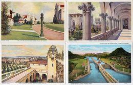 PANAMA - 4 CPA - Panama- California Exposition - SAN DIEGO 1915 (3) Las Exclusas De PEDRO MIGUEL  (103206) - Panama