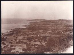 LARGE OLD PHOTO  - KEFALONIA -  VIEW OF LEIVATHO - 16.5 X 21.5cm ! - Grèce