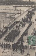 Evènements - Réception Souverains D'Italie Paris - Militaria Défilé - 1908 - Adressée Hôtel Mers Les Bains 80 - Recepciones