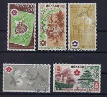 "Monaco YT 822 à 826 "" Expo D'Osaka "" 1970 Oblitéré - Briefmarken"