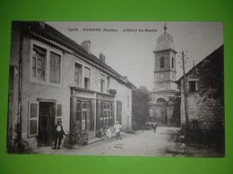 25 CPA AVANNE L HOTEL DU DOUBS DEVANTURE COIFFEUR BELLE ANIMATION - France