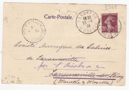 Mines De Houille De Courrières, Billy Montigny - 1924 - Marcophilie (Lettres)