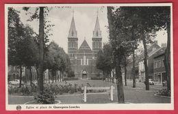 Quaregnon-Lourdes - Eglise Et Place -1963 ( Voir Verso ) - Quaregnon