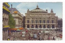 75 Paris N°104 Place De L'Opéra En 1954 VOIR 2 ZOOMS Citroën Tube Bus Mini Voiture PUB Courvoisier SWISSAIR - Markten, Pleinen
