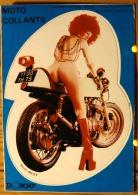 MOTARDE SEXY MOTO COLLANTS FEMME NUE SUR UNE MOTO AUTOCOLLANT STICKER SCAN R/V - Humour