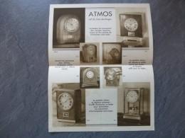 Pendule Perpétuelle ATMOS, Dépliant PUB Vers 1930 ; Ref VP42 - Pubblicitari